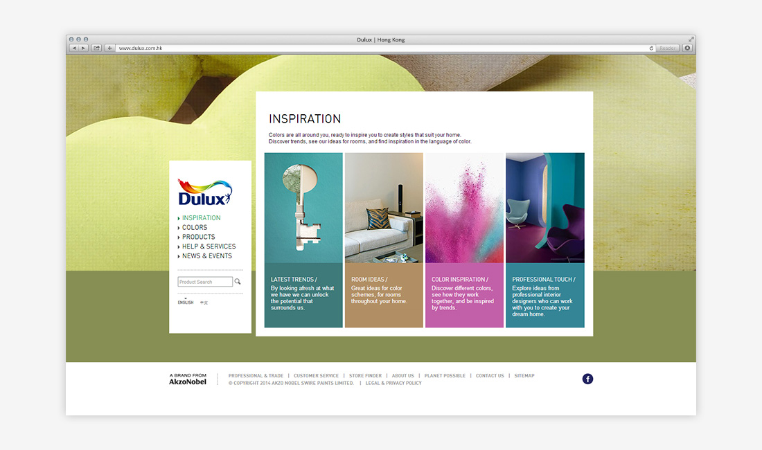 AkzoNobel: Dulux Corporate Website - FirmStudio