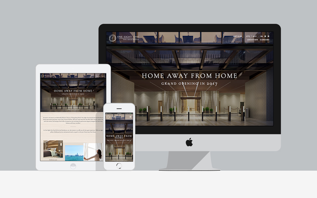 One Eight One Hotel Serviced Apartments Web Design Development Amazing Apartment Website Design